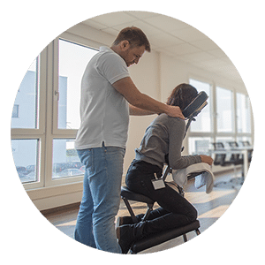 Arbeitsplatzmassage Entspannung Mitarbeiterbindung